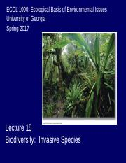 Lecture 15 Invasive Species.ppt