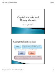 LG 2-3-  Money Markets and Capital Markets