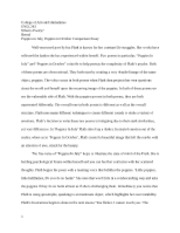Poppies comparison essay