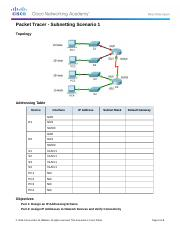 8.1.4.7 Packet Tracer - Subnetting Scenario 1