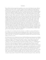 personal worldview essay worldview my worldview has been shaped personal worldview essay worldview my worldview has been shaped and expanded over the course of my lifetime by many different influences my family
