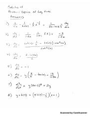 answers review derivative log functions.pdf