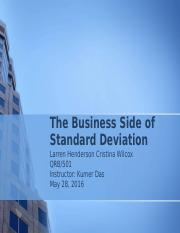 The Business Side of Standard Deviation