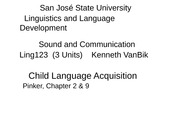 13Lec.13-Child Language Acquisition
