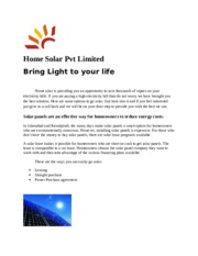 Home Solar Pvt Limited.docx