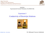 Experiment 3_Conductivity of Electrolyte Solutions