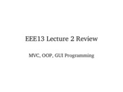 Lecture 4 - GUI Programming II