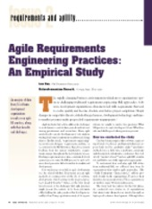 Agile Requirements Engineering Practices - An Empirical Study