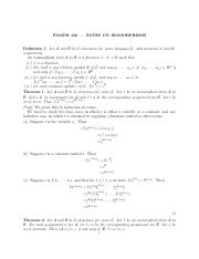 Notes on isomorphisms