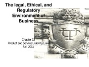 Chapter 13 Product and Service Liability Law