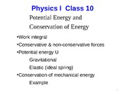 lec10_Potential energy and energy conservation
