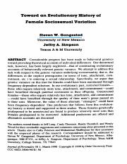 Toward an Evolutionary History of Femal Sociosexual variation.pdf