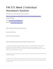 FIN 571 Week 2 Individual Homework Solution.docx