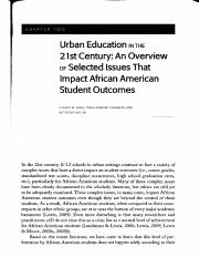 Urban Education in the 21st century