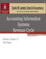 Revenue Cycle-Chapter 12-2