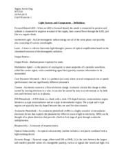 Unit 9 Exercise 1 Light Sources and Components - Definitions.docx