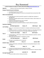 entry level actuary resume 67