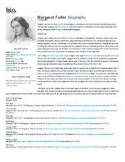 Margaret Fuller Print - Biography
