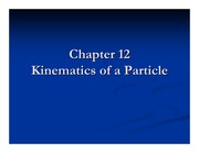 Ch12 Kinematics of a Particle