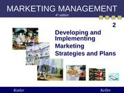 Chapter 2 Developing Marketing Strategy (Summer 2013)