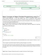 Basic Concepts of Object Oriented Programming using C++ - GeeksforGeeks.pdf