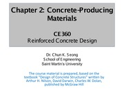CE360-Chapter 2 - Materials for Concrete