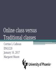 Online class versus Traditional classes power point.pptx