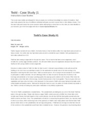 Todd's case study # 1 Class note