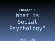 Social Psychology Chapter01 PP.ppt