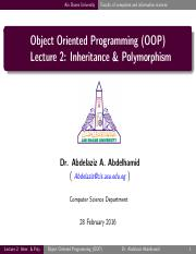 Lecture02 - Inheritance & Polymorphism.pdf