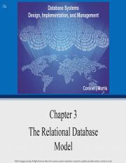 Chapter 3 - Relational-DB-Model