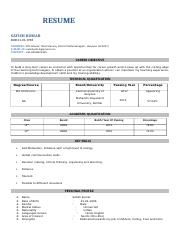 satish resume