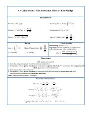 AP Calculus BC Awesome Sheet of Knowledge.pdf