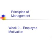 week 9 employee motivation