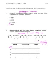 Chem 2223A midterm exam 4