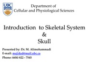 (02) Introduction to Skeletal System & Skull