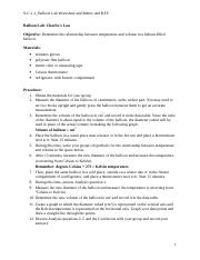 S-C-1-2_Balloon Lab Worksheet and Rubric and KEY