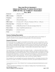 URBP201 Syllabus Kos- Fall 2013