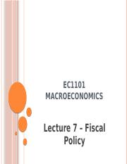 EC1101 Autumn Lecture 7 - Fiscal Policy.pptx