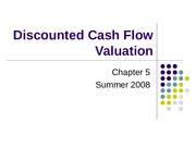 5. Discounted Cash Flow Valuation
