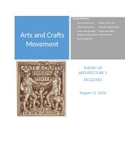 ARTS AND CRAFTS MOVEMENT