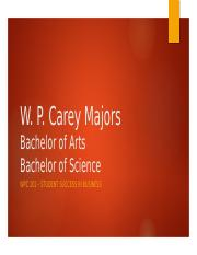Majors in W. P. Carey.pptx