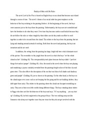 LOTF art connection essay