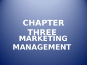 Chapter Three Marketing