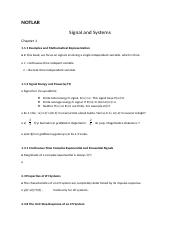 NOTLAR - Signal and Systems.docx