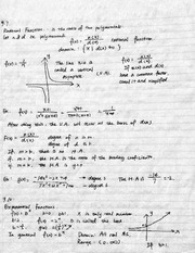 Rational function and exponential function