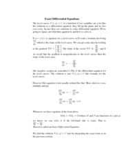 Calculus for Biology Class Notes Equations