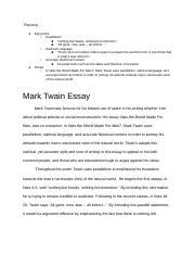 Mark Twain Group Essay