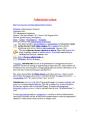 Administration - definition - Copy