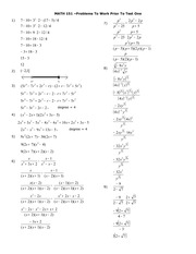 Exam Solutions on Applied College Algebra